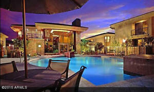 "Scottsdale Luxury Condominium ""Pool Side -  Clubhouse"" view"