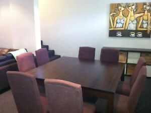 Eight seat Dining Table with Chairs Gladesville Ryde Area Preview