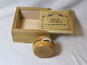 Wooden Yo Yo Made by Old Town Classic's in Wood Box