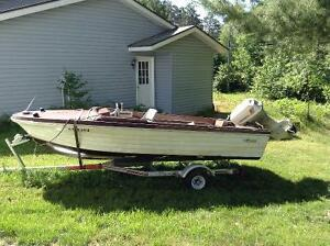14 ft runabout boat & trailer