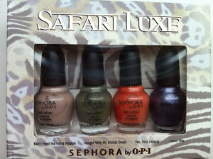 Sephora by OPI Safari nail polish collection