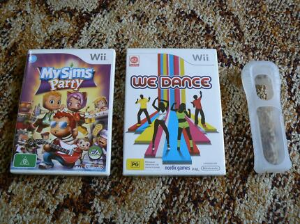 Nintendo Wii games - My Sims Party + We Dance (new & sealed)