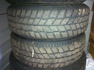 3 Winter Tires: 195 55 R15, on Rims