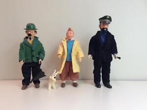 Figurines Tintin, milou,Capitaine Haddock, Prof.Tournesol 1985