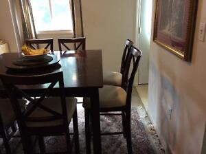 Dinning table with 8 high chairs