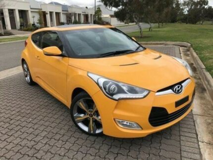 2014 Hyundai Veloster FS4 Series II Coupe D-CT Orange 6 Speed Sports Automatic Dual Clutch Hatchback
