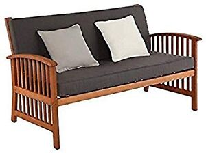 Southern Enterprises Catania Patio Sofa in Oiled Brown and Gray