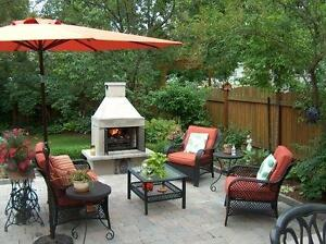 Outdoor fireplace These heavy duty outdoor fireplaces are now available in Canada exclusively by backyardfireplace.ca