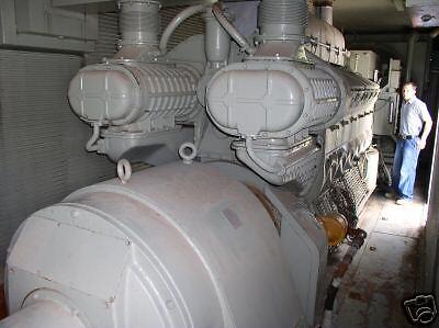 750 Kw General Motors Emd Power System V-12 Electro-motive Diesel Low Hours