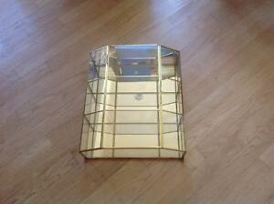 Beautiful gold colour wall display unit
