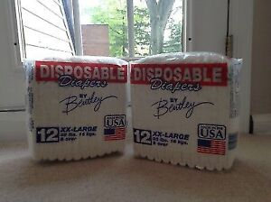 Case of 6 Packs Baby Diapers - size 6+