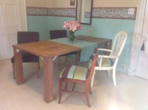 Table and 4  Chairs together or individual