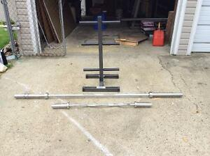 Olympic bars and stand