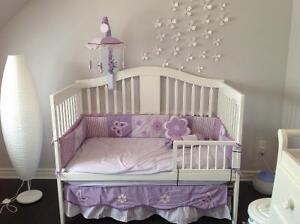 Literie de bébé fille complète  - Baby girl crib bedding set
