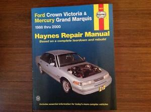Haynes Manual Ford Crown Vic/Mercury Grand Marquis 1988 - 2000