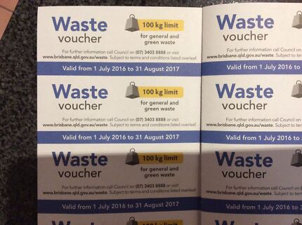 BCC Waste Vouchers x 20. To give away.