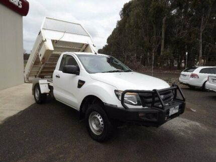 2012 Ford Ranger PX XL White 6 Speed Sports Automatic Cab Chassis Yarrawonga Moira Area Preview