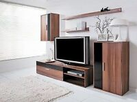 TV Display Unit - Walnut/Black - bought for display purposes to sell a house