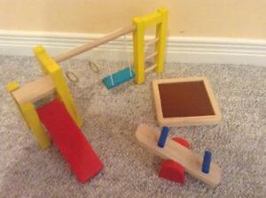 Wooden Dolls House Furniture - Playground