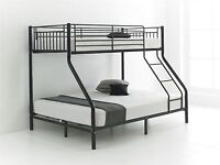 solid metal triple sleeper bunk bed with same day delivery
