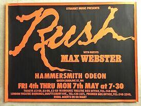RUSH TOUR POSTER 1979