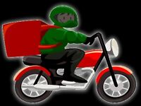 Cyclist and motobiker for delivery