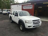 Low Miles 2007 FORD RANGER 2.5TDCi (143PS) 4x4 4WD AWD CREW DOUBLE CAB PICK UP
