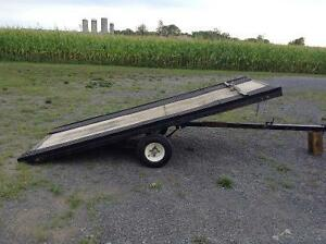 Single sled trailer.