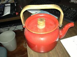 Decorator red kettle for sale