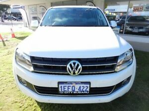 2013 Volkswagen Amarok 2H MY13 TDI400 4Mot Highline White 6 Speed Manual Utility