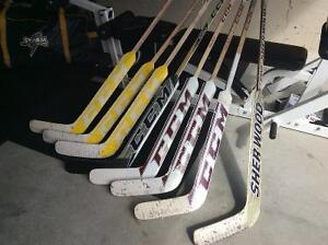 CCM -Sherwood new and used goalie sticks