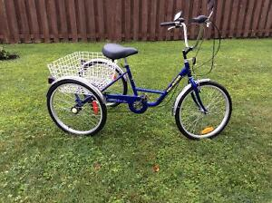 Tricycle pour adulte, 6 vitesses