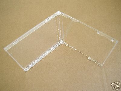 4 10.4MM STANDARD SINGLE CD JEWEL CASES, CLEAR NO TRAY BL100