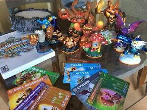 Sky landers portal and figures with cards