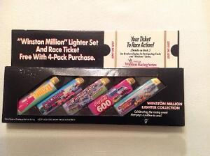 "Vintage NASCAR ""Winston Million"" Lighter Collection Set"