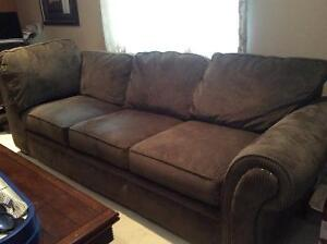 Brown corduroy 3 seater couch