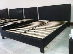 Queen Size PU Leather Bed Frame Black or White New