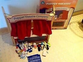 ELC Puppet Theatre, some finger puppets and 2 stories, original box