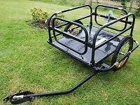 Bike Trailer - Foldable Bicycle Trailer - Garden, Boat, Fishing, Dog Trailer 60KG