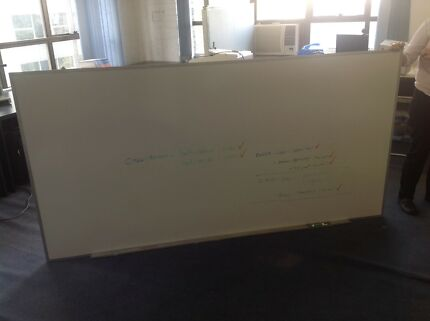 2.4m x 1.2m Whiteboard with Aluminium Frame