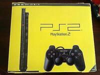 Slim ps2 in the box with some games and memory card / cash or swaps