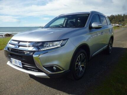 2016 Mitsubishi Outlander ZK MY17 LS 4WD Silver 6 Speed Constant Variable Wagon Cooee Burnie Area Preview
