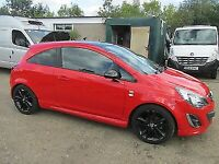 VAUXHALL CORSA D RED DRIVERS SIDE DOOR 3 DR MODEL 2012 - 2015 ASK BREAKING SPARES