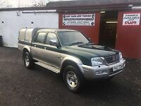 2004 Mitsubishi L200 2.5 TD 4Life Double Cab Pick Up 4X4 + Ifor Williams Canopy