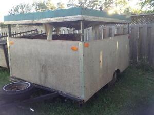 Closed in trailer