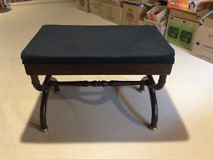 Bench / Stool - removeable cushioned seat, brass fittings