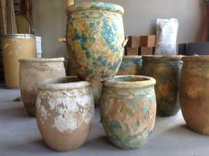 """clay pots 10-12"""" opening"""