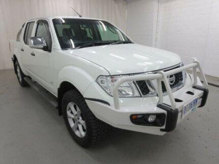 2013 Nissan Navara D40 S5 MY12 ST-X 550 White 7 Speed Sports Automatic Utility