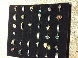 Large collection of costume rings for sale