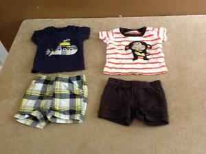 34 piece of 0-3month baby boy clothes